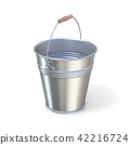 Metal bucket isolated 42216724