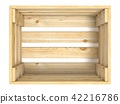 Empty wooden crate. Top view. 3D 42216786