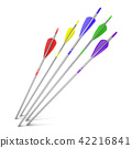 Arrows hitting a white background 42216841