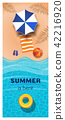 Vertical summer banner 42216920