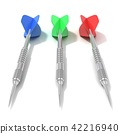 Set of darts. Front view. 3D 42216940