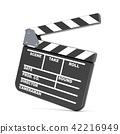 Movie clapperboard. 3D 42216949