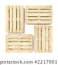 Wooden Euro pallets. Top view. 3D 42217001