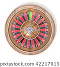 Roulette wheel. Top view. 3D 42217013