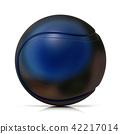 Black tennis ball 42217014