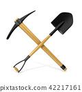 Mining tools, shovel and pickaxe. 3D 42217161