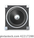 Black audio speaker. 3D 42217288
