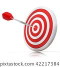Dart hitting a target, 3D 42217384