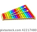 Xylophone with two wood drum stick 3D 42217480