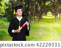 Happy man portrait dreams graduation Graduate 42220331