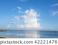 뭉게구름, 여름, 바다 42221476