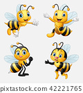Funny cartoon bee collection 42221765