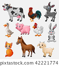 Farm animal collection set on white background 42221774