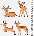 Cartoon impala collection set 42221781