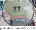여행, 지도, 돋보기 42225132