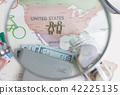 여행, 지도, 돋보기 42225135