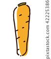 胡萝卜 根菜类 块根类蔬菜 42225386