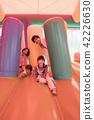 ผู้ปกครองเล่นกับอุปกรณ์สนามเด็กเล่นของสวนสนุกอากาศ 42226630
