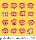 Vintage telephone character emoji set 42227224