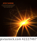 Sunrise vector space background 42227467
