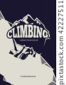 mountain, climbing, template 42227511