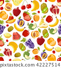 Seamless vector summer juicy fruit and berries exotic cocktail 42227514
