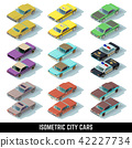 Isometric city cars vector icons in front and rear views 42227734