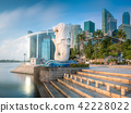 Business district and Marina bay in Singapore 42228022
