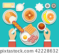 Breakfast vector concept with fresh food and drinks top view 42228632