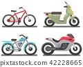 Bike and motorbike vector illustration 42228665