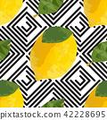 lemon, yellow, seamless 42228695