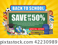 Back to school sale chalkboard   education object 42230989