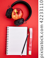 Black Headphones and apple 42233110