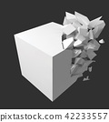 vector illustration of exploding cube 42233557