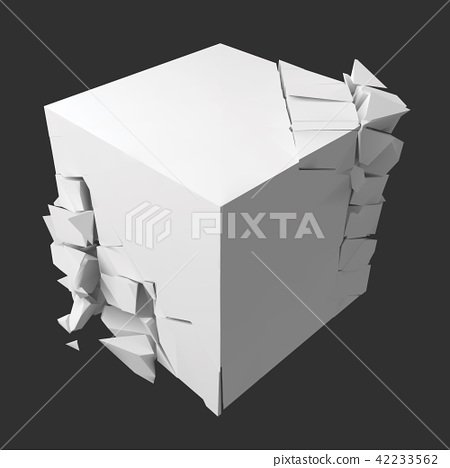 vector illustration of exploding cube 42233562