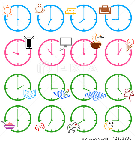 Watch Hour One Day Schedule Icon Set Stock Illustration 42233836 Pixta Here you can explore hq schedule icon transparent illustrations, icons and clipart with filter setting polish your personal project or design with these schedule icon transparent png images, make it. https www pixtastock com illustration 42233836