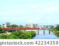 오카자키시 도시 풍경 오카자키 시내를 달리는 메이 테츠 전철 42234359
