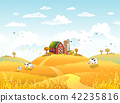 farm, landscape, vector 42235816