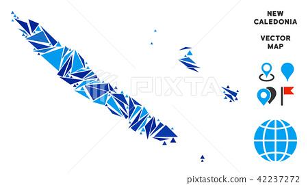 Blue Triangle New Caledonia Islands Map 42237272