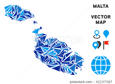Blue Triangle Malta Island Map - Stock Illustration ... on san marino, malta people, malta region map, malta points of interest, malta street map, malta weather, malta russia map, emma heming, malta beaches, malta portugal map, cape verde islands map, malta capital map, italy map, maltese map, st.julians malta map, paul in malta map, malta bus route map, malta popeye s, malta climate map, malaysia map, sliema malta map,