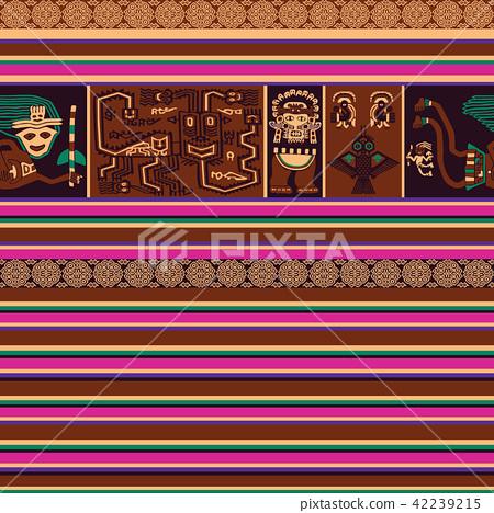 Seamless pattern with Peruvian motif 42239215