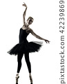 Ballerina dancer dancing woman isolated silhouette 42239869
