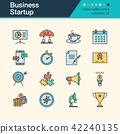 Business Startup icons. Filled outline design. 42240135