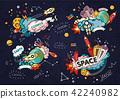 Cartoon vector illustration of space 42240982