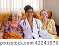 Portrait Of Doctor And Happy Old People In Hospice 42241970