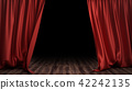 3D illustration luxury red silk velvet curtains decoration design, ideas. Red Stage Curtain for 42242135