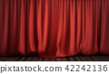 3D illustration luxury red silk velvet curtains decoration design, ideas. Red Stage Curtain for 42242136