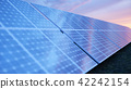 3D illustration solar power generation technology. Alternative energy. Solar battery panel modules 42242154