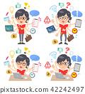 red Tshirt Glasse men_mulch task Office 42242497