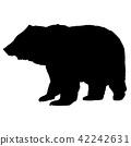 곰, 동물, 실루엣 42242631